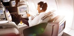 that isn't all business. Find yourself entertained by 100 films, 200 TV shows, and endless music choices with our in-flight entertainment. Business Class, Choices, Tv Shows, Finding Yourself, Films, Entertainment, Music, Movies, Musica
