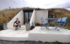 Second world war bunker in Cornwall converted to holiday home. or this would be a great way to keep you psychopaths away once and for all. my own bunker. Underground Survival Shelters, Underground Bunker, Underground Building, Bunker For Sale, Food Storage Rooms, Bunker Home, Doomsday Bunker, Survival Prepping, Survival Hacks