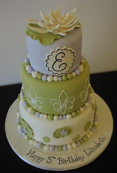Princess and the Frog...this is a lovely cake ...I'd love it even if it was made for a 5 year old... lol