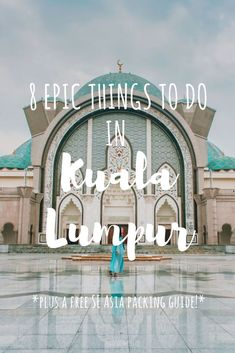 8 MUST DO THINGS IN KUALA LUMPUR Click and save this pin!! Kuala Lumpur Guide, Malaysia Travel, What to see in KL, What to see in Kuala Lumpur, Malaysia sights, Southeast Asia Travel, Backpacking in Asia, Asia, Malaysia Itinerary, Visiting Kuala Lumpur, Kuala Lumpur Malaysia, What to see and do in KL, Visiting Malaysia, Solo Travel in Malaysia, Solo Female travel