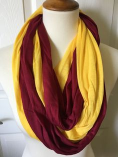 Infinity Scarf with Hidden Pocket - Burgandy/Gold Scarfs, Infinity, Pocket, Sewing, Simple, Gold, Shopping, Ideas, Products