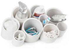 DIY Desk Or Bathroom Organizer Of PVC Pipes