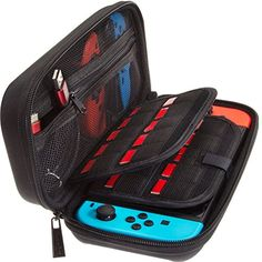 awesome Video Games & more - Nintendo Switch Deluxe Travel Carrying Case with (19 Game Card and 2 Micro SD Card Holders) by ButterFox - Black #Video #Games