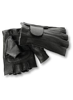 Interstate Leather Unisex Fingerless Gloves (Black, X-Small) - http://outdoorprosports.com/interstate-leather-unisex-fingerless-gloves-black-x-small/
