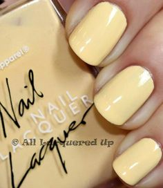 Pastel yellow nails. #FlauntYourFlavor Sweepstakes Entry