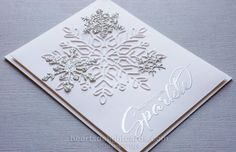 Well, you KNOW I just HAD to get every snowflake-related item in the new Stampin' Up! Holiday catalog, didn't you? If it sparkles, or if ...