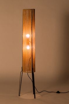 Anonymous; Enameled Metal and Rope Floor Lamp, 1950s.
