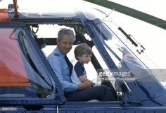Prince William aged four takes a seat in the cockpit with the pilot of a Royal Flight Helicopter At Highgrove House on July 1986 in Tetbury, England. It has been announced today that Prince. Get premium, high resolution news photos at Getty Images Princess Photo, Prince And Princess, Princess Of Wales, Prince William Age, Prince Charles, Diana Son, Lady Diana, Charles And Diana, Princesa Diana