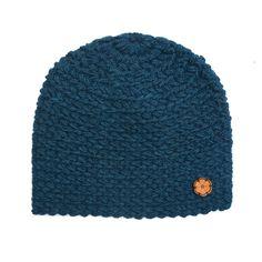 Bonnet bleu marine, grosse maille 100% alpaga de teinte naturelle, fait main de la boutique Ulalatika sur Etsy
