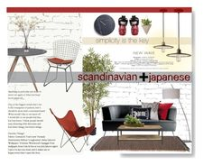 """Scandinavian + Japanese"" by jeanica-platero ❤ liked on Polyvore featuring interior, interiors, interior design, home, home decor, interior decorating, Ren-Wil, Nearly Natural, Kettal and Feiss"