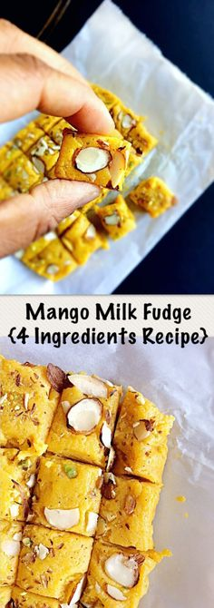 Mango Milk Fudge  #mangorecipes #mangofudge #mangodesserts #fudgerecipes #indiandessert