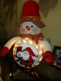 Country Christmas Decorations, Christmas Crafts For Gifts, Christmas Fabric, Christmas Snowman, Craft Gifts, Christmas Bulbs, Holiday Decor, Snowman Crafts, Ideas Hogar