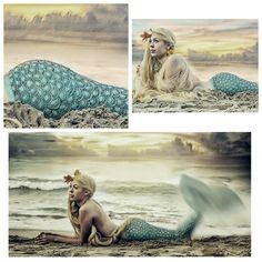 ...just in from the sea...a travellar...dreaming of her next adventure...tail twitching with anticipation.  In her world...all mermaid tails are made from henna...  Ready for adventure?  Like and Pin...help send me on one!  Thank you... Mo Ko (photographer) Autumn Lucas (my mermaid) Done at Attwater Beach on Lake Michigan, at sunset.  I painted a blue wash from her waist down and hennaed the scales on top.