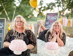 Adult Cake Smash portrait session. Happy 40th Birthday! Captured by Colson Photography | Valdosta, Georgia Photographer
