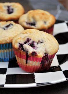 Blackberry and Cream Cheese Muffins