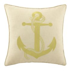 Anchor In Gold Pillow