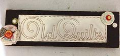 "quilt wood sign | Punch Tin Black Wood ""Old Quilts"" Sign"
