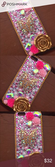 iPhone 6/6s Case. This case fits an iPhone 6/6s. Cheaper on my etsy shop, only $25! www.BedazzledBliss33.etsy.com Accessories Phone Cases