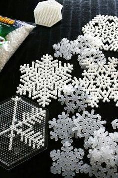 Perler bead Snowflakes ❄ Perfect for my Perler-loving kids!                                                                                                                                                                                 More