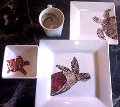 art dinnerware plates