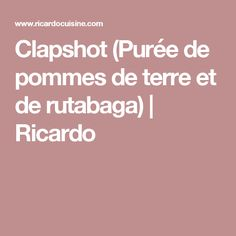 Clapshot (Purée de pommes de terre et de rutabaga) | Ricardo Rutabaga, Buffet, Yummy Food, Xmas, Drink, Table, Apples, Cooking Recipes, Creamed Spinach