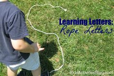 learning letters rope letters