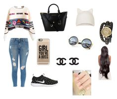 """""""#137"""" by inesmeireles ❤ liked on Polyvore featuring Frame Denim, NIKE, Topshop, Casetify and Bling Jewelry"""