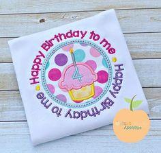 Birthday Circle Applique Design