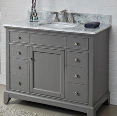 "Smithfield 42"" Vanity - Medium Gray - Fairmont Designs - Fairmont Designs"