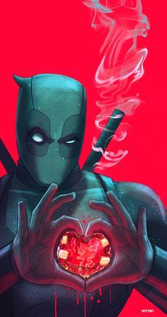 Deadpool… Have A Heart - Marco D'Alfonso Marvel Dc Comics, Archie Comics, Fun Comics, Marvel Art, Marvel Heroes, Marvel Characters, Deadpool Und Spiderman, Deadpool Art, Deadpool Movie
