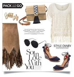"""""""Mexico city: pack and go!"""" by anchilly23 ❤ liked on Polyvore featuring Aquazzura, WithChic, Nümph, Stella & Dot and Topshop"""