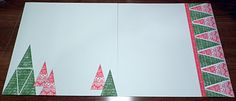 Christmas scrapbook layouts using all stamping