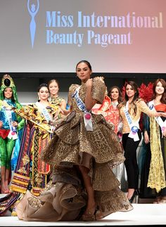 LOOK: Miss International Kylie Verzosa's national costume inspired by San Agustin Church carvings Modern Filipiniana Gown, Kylie Verzosa, Classic Literature, Beauty Pageant, Filipina, Retro Design, Beauty Queens, Barbie Clothes, Fashion Art