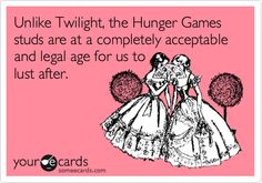 Unlike Twilight, the Hunger Games studs are at a completely acceptable and legal age for us to lust after.