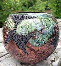 Raku Pot Unique piece of pottery hand-made by Harold Long, Cherokee. http://medicinemancrafts.com/collections/pottery/products/raku-pot