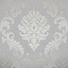 Henderson Interiors Chelsea Glitter Damask Wallpaper Soft Grey / Silver H980504