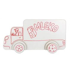 A set of vehicles including a pick up, a truck and a car. There is a possibility to decorate cars using whiteboards markers