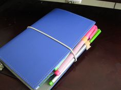 My first Filofax. Domino personal in electric blue