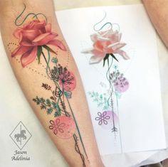 Jason Adelinia Tattoo - tatuagem botânica