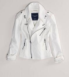 ae white denim motorcycle jacket