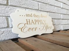 they lived HAPPILY Ever After wedding sign double sided by SunFla
