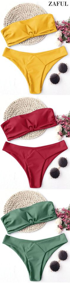 Up to 80% OFF! Knot Padded Bandeau Bikini Set. #Zaful #Swimwear #Bikinis zaful,zaful outfits,zaful dresses,spring outfits,summer dresses,Valentine's Day,easter,super bowl,st patrick's day,cute,casual,fashion,style,bathing suit,swimsuits,one pieces,swimwear,bikini set,bikini,one piece swimwear,beach outfit,swimwear cover ups,high waisted swimsuit,tankini,high cut one piece swimsuit,high waisted swimsuit,swimwear modest,swimsuit modest,cover ups @zaful Extra 10% OFF Code:ZF2017 #swimsuit