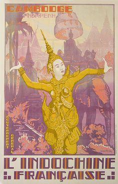 Jos Henry Ponchin 1931 Indochine Francaise Cambodge Pnompehn 75x111 imp Extre Orient Hanoï by estampemoderne.fr, via Flickr