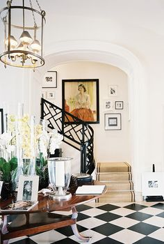 The black and white flooring - CLASSIC! love, love, love!!!