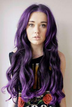 purple  #ColorHair #FairyHair #MermaidHair