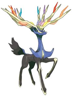 Pokemon X - Legendary Pokemon Xerneas. Oh my goodness! Xerneas and Yveltal look so COOL! Can't wait for the rest of Gen 6 to be released!