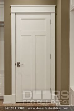 Craftsman Style Custom Interior Wood Doors Custom WoodCraftsman Style Custom Interior Wood Doors Custom WoodOur most-used white paint for interior trim and doors. All colors are Sherwin-Wi .Our most-used white paint for interior trim and Craftsman Interior Doors, Craftsman Style Interiors, Craftsman Style Doors, Interior Door Styles, Interior Window Trim, Craftsman Trim, Home Interior, Craftsman Houses, Interior Design
