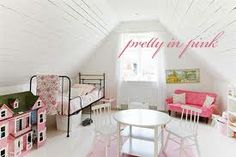 White Bedroom with Bright Colored Vintage Accents