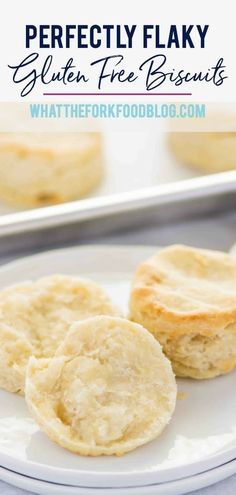 These easy and simple Gluten Free Biscuits are a adapted from my mom's biscuit recipe. These buttery, flaky, fluffy gluten free biscuits are everything you want in a biscuit! Gluten free biscuit recipe from What The Fork Gluten Free Breakfasts, Gluten Free Desserts, Dairy Free Recipes, Gf Recipes, Paleo Dessert, Dessert Recipes, Scones, Dairy Free Biscuits, Easy Biscuit Recipe