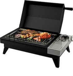 The Dimplex PBQ-120-METRO PowerChef table top electric grill comes in a durable, weatherproof matte black finish and is perfect for use on apartment and condo balconies. Description from heater-home.com. I searched for this on bing.com/images